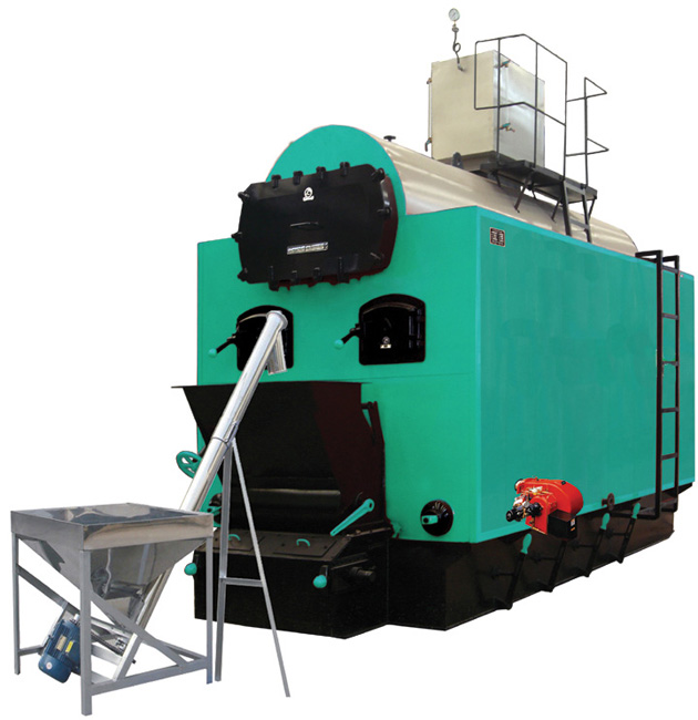 Biomass fired atmospheric hot water boiler